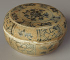 Blue-and-white covered box