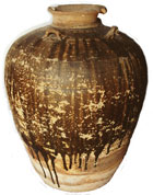 Jar from Maenam Noi in Singburi province, volume about 80 litres, height 68cm