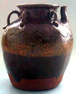 ring-handled spouted jar
