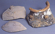 Jar fragments,  dragon 20cm. SEACS KL no 231-3.