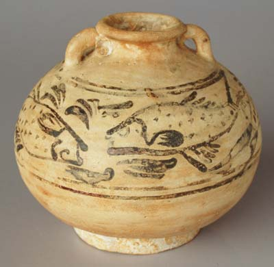 Sukhothai ring handled jar from the  Turiang   height 12cm. p4  Discovering Asia s ceramic development
